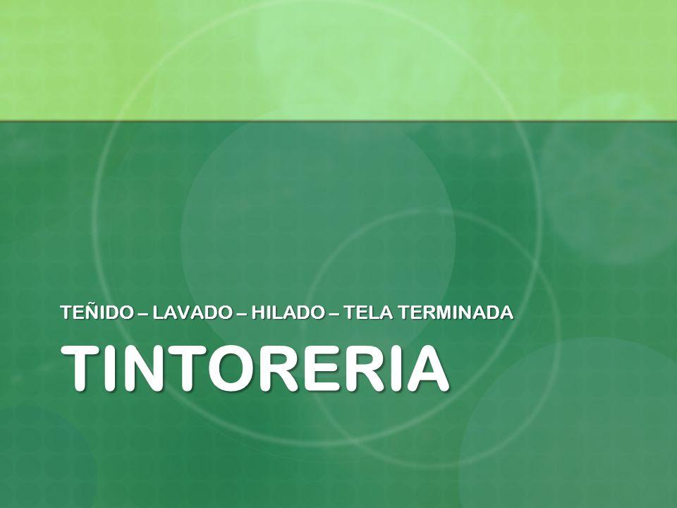 TEÑIDO – LAVADO – HILADO – TELA TERMINADA