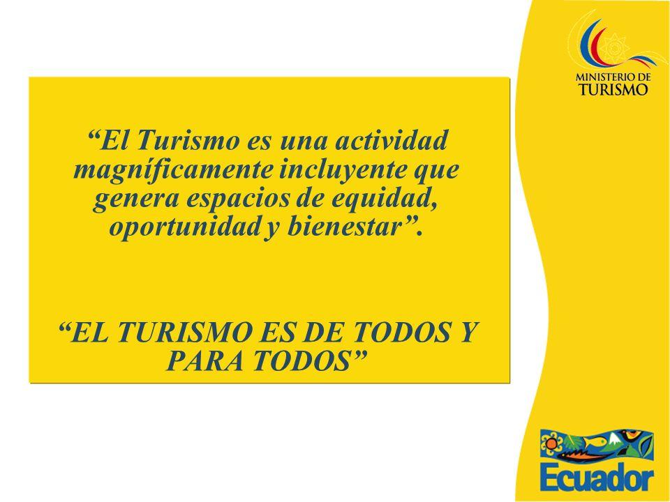 EL TURISMO ES DE TODOS Y PARA TODOS