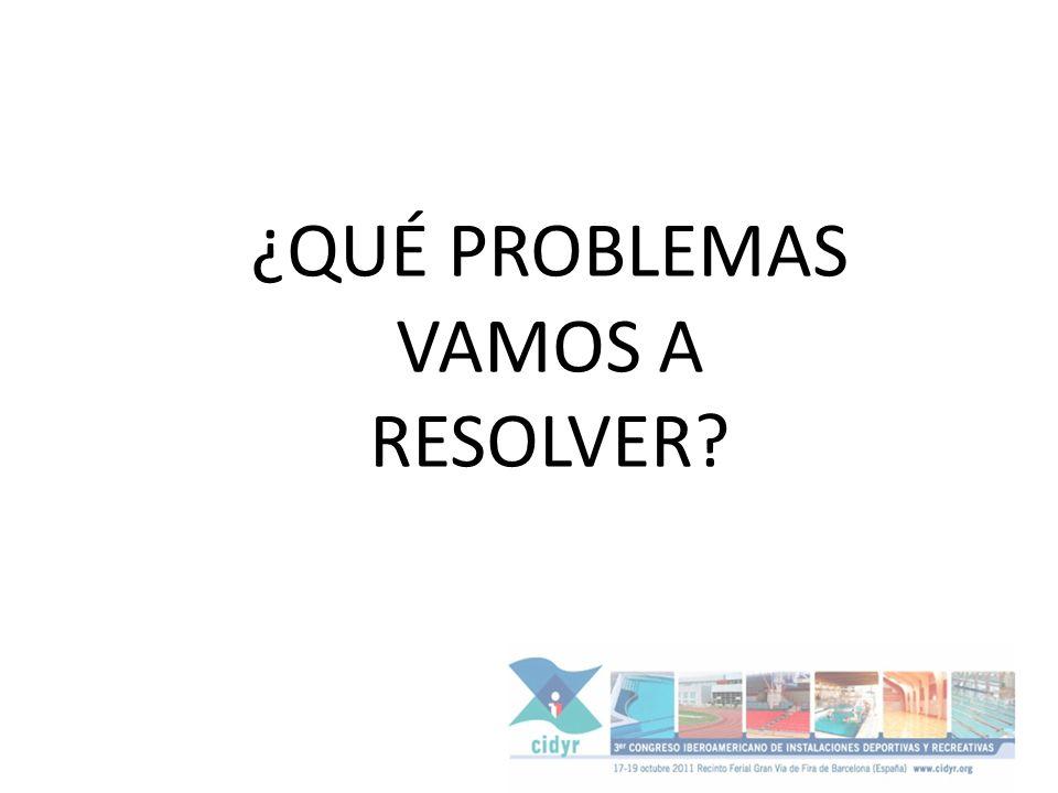 ¿QUÉ PROBLEMAS VAMOS A RESOLVER