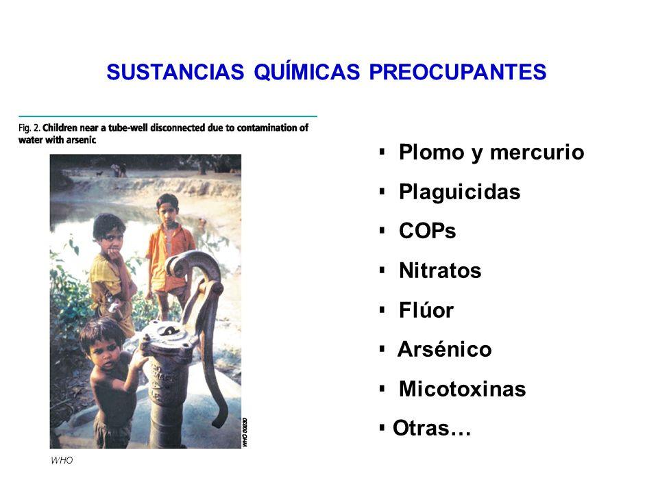 SUSTANCIAS QUÍMICAS PREOCUPANTES