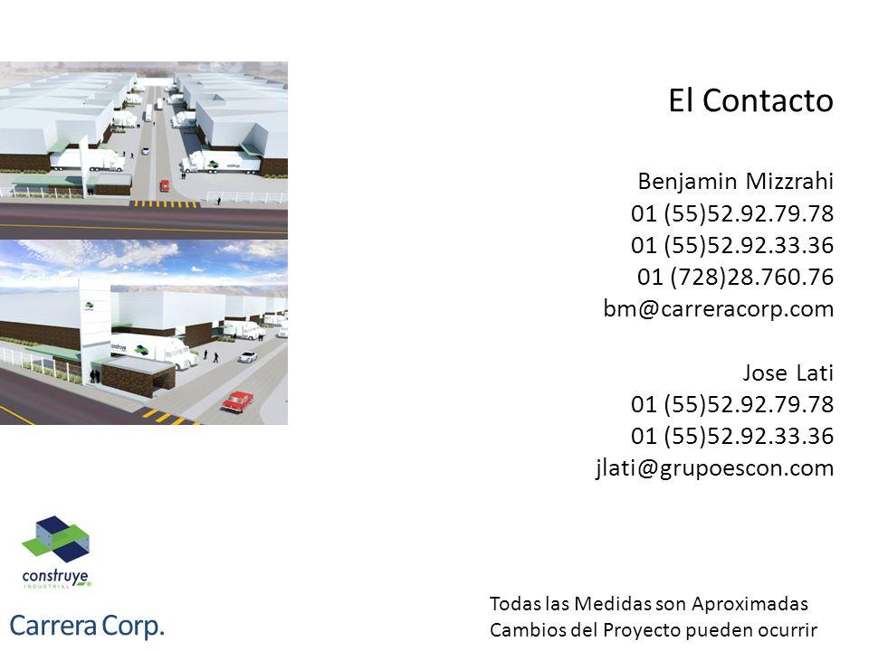 El Contacto Benjamin Mizzrahi 01 (55)52. 92. 79. 78 01 (55)52. 92. 33