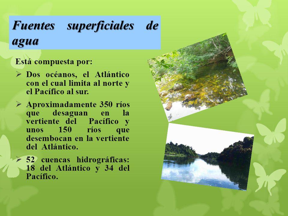 Fuentes superficiales de agua