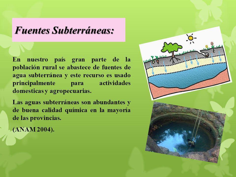 Fuentes Subterráneas: