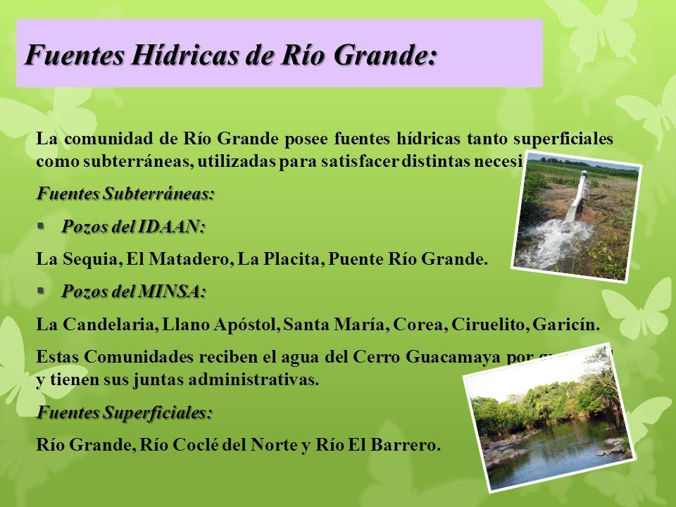 Fuentes Hídricas de Río Grande: