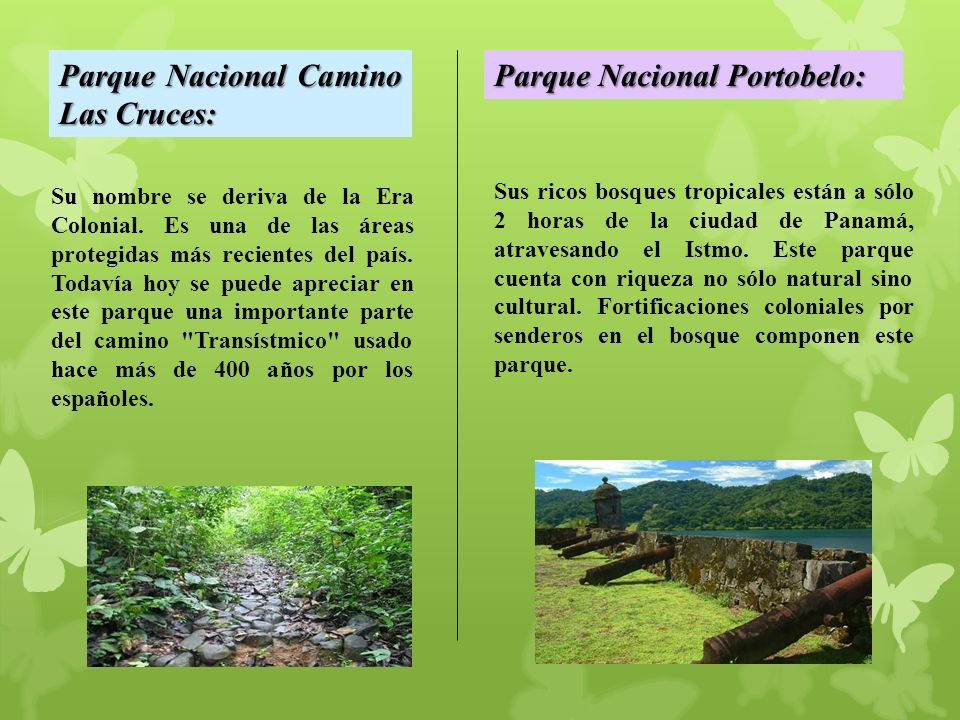 Parque Nacional Camino Las Cruces: Parque Nacional Portobelo: