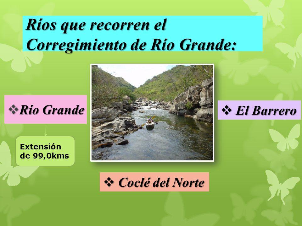 Ríos que recorren el Corregimiento de Río Grande: