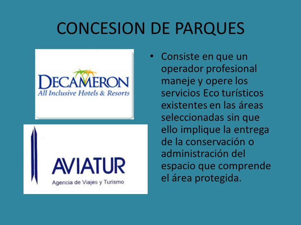 CONCESION DE PARQUES
