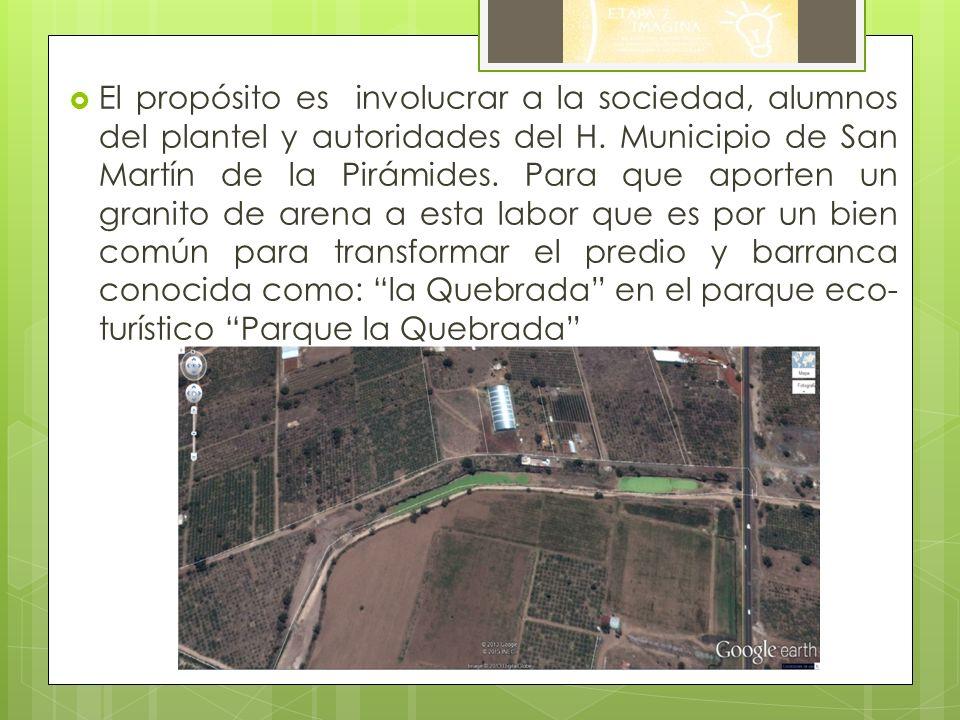 El propósito es involucrar a la sociedad, alumnos del plantel y autoridades del H.