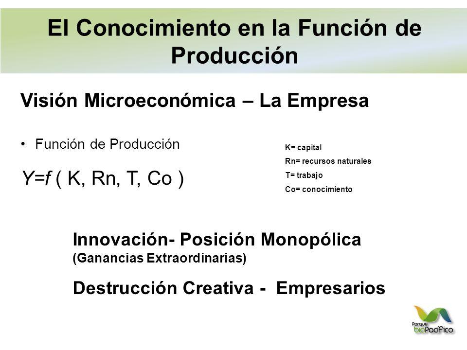 El Conocimiento en la Función de Producción