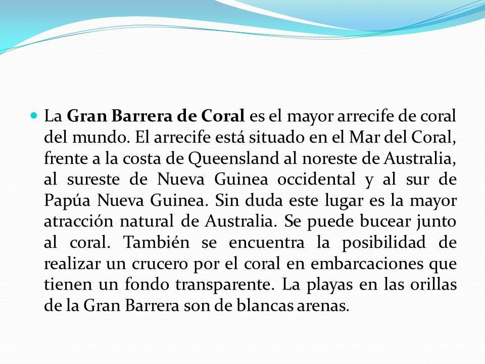 La Gran Barrera de Coral es el mayor arrecife de coral del mundo
