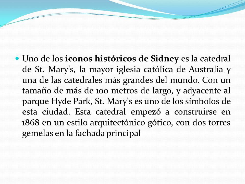 Uno de los iconos históricos de Sidney es la catedral de St