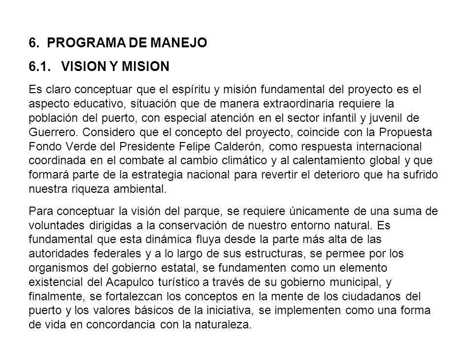6. PROGRAMA DE MANEJO 6.1.