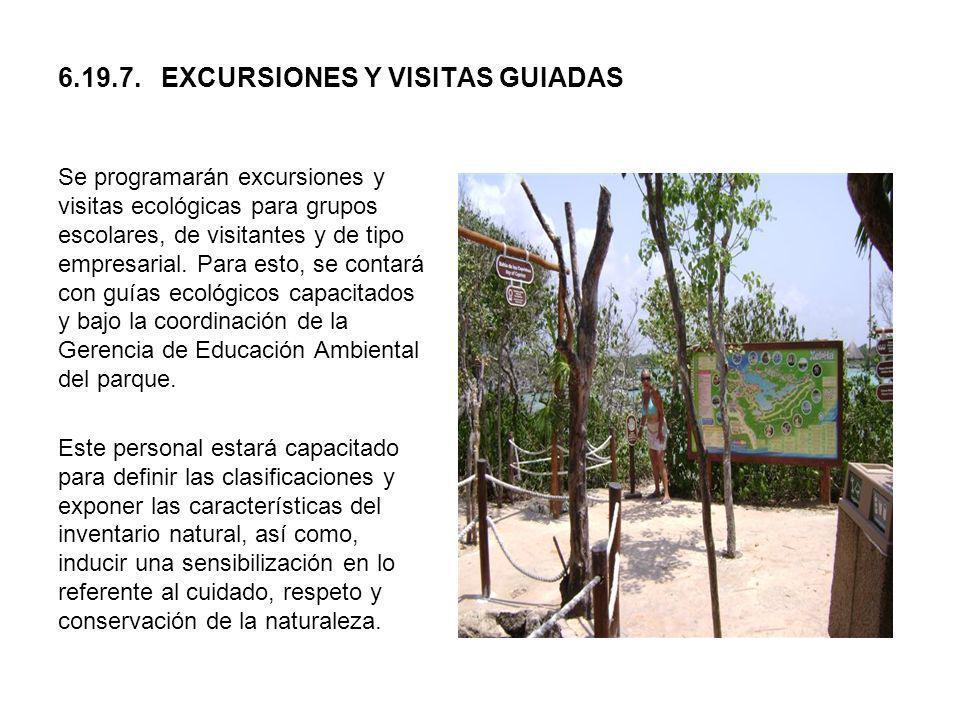 6.19.7. EXCURSIONES Y VISITAS GUIADAS