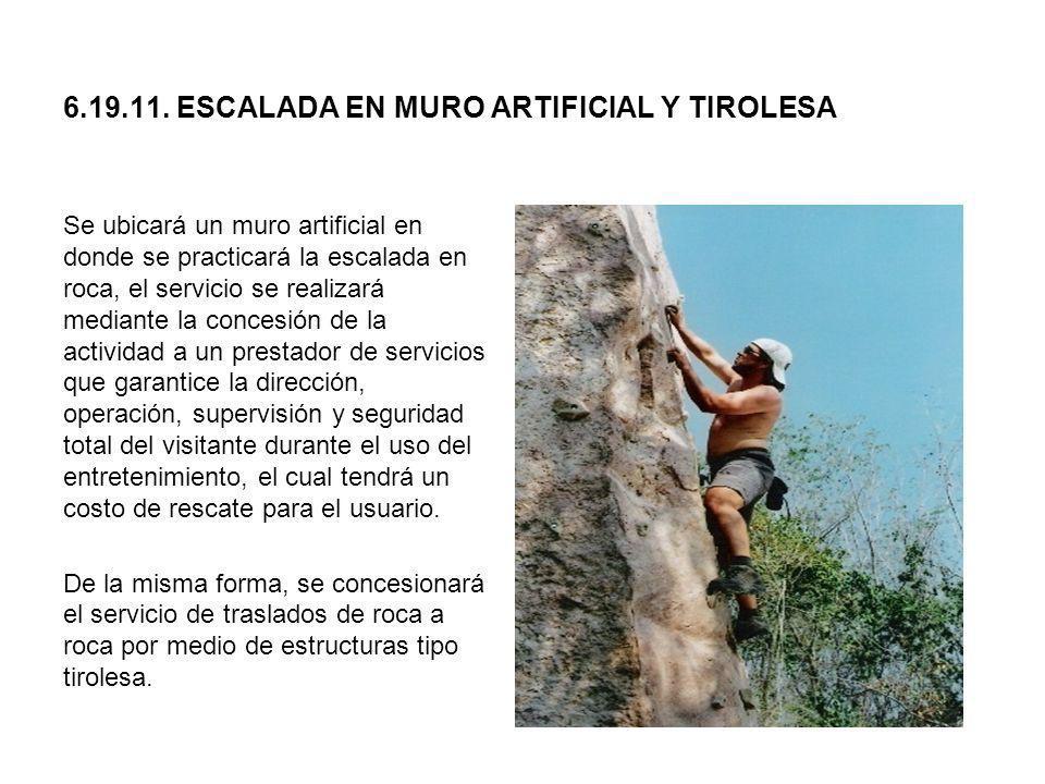 6.19.11. ESCALADA EN MURO ARTIFICIAL Y TIROLESA