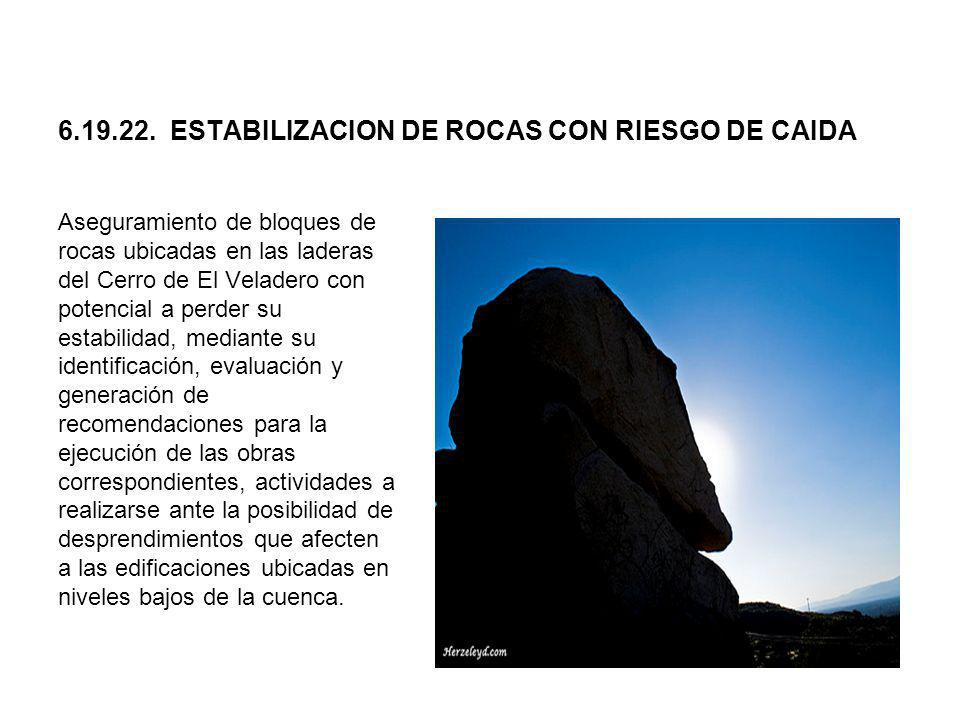 6.19.22. ESTABILIZACION DE ROCAS CON RIESGO DE CAIDA