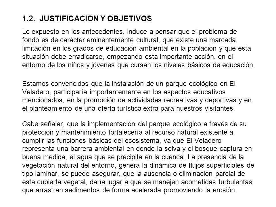 1.2. JUSTIFICACION Y OBJETIVOS