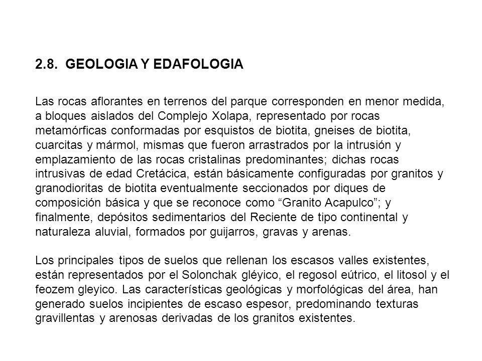 2.8. GEOLOGIA Y EDAFOLOGIA