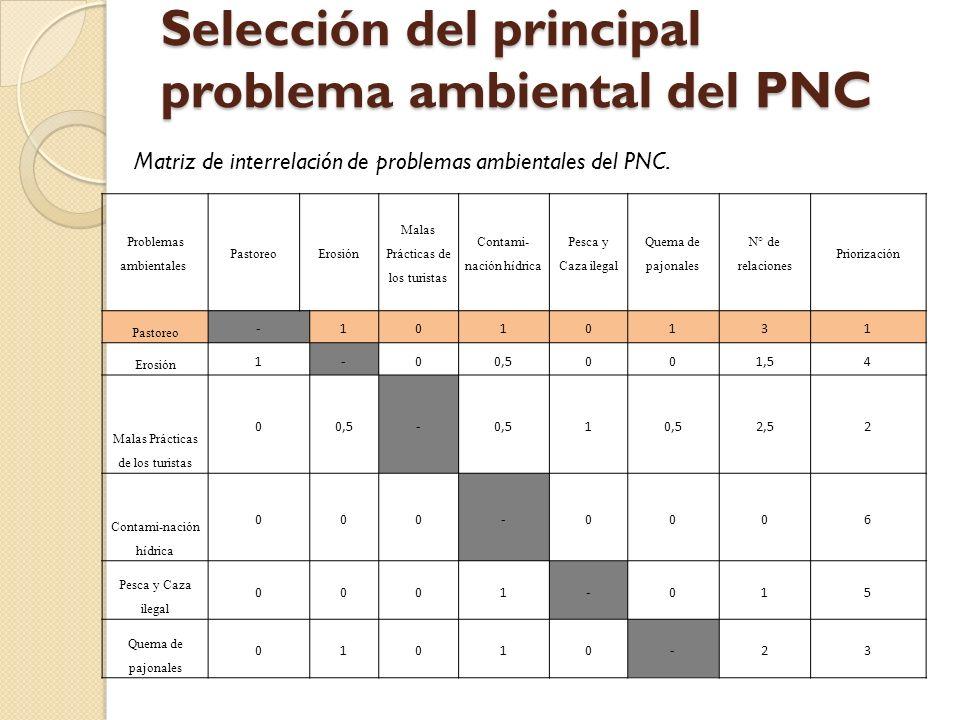 Selección del principal problema ambiental del PNC