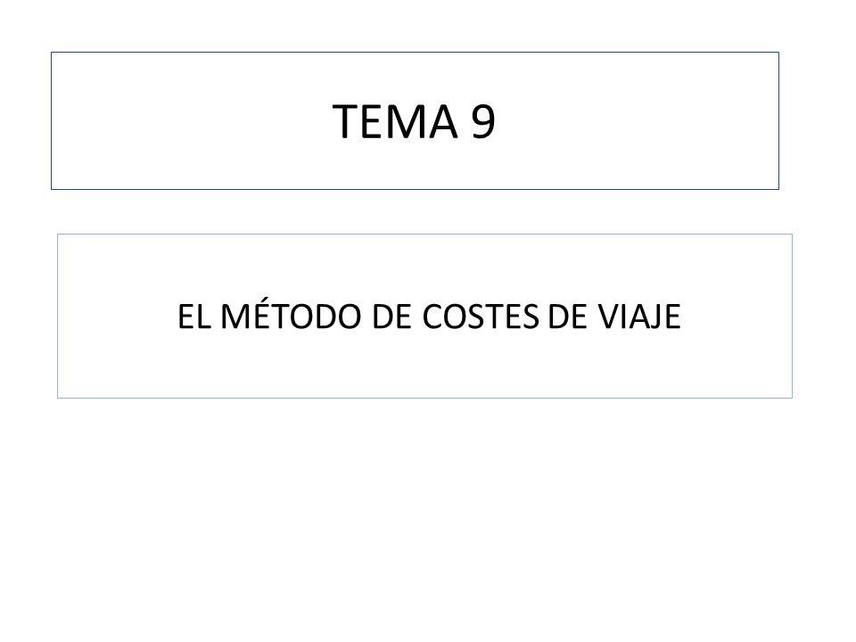 EL MÉTODO DE COSTES DE VIAJE