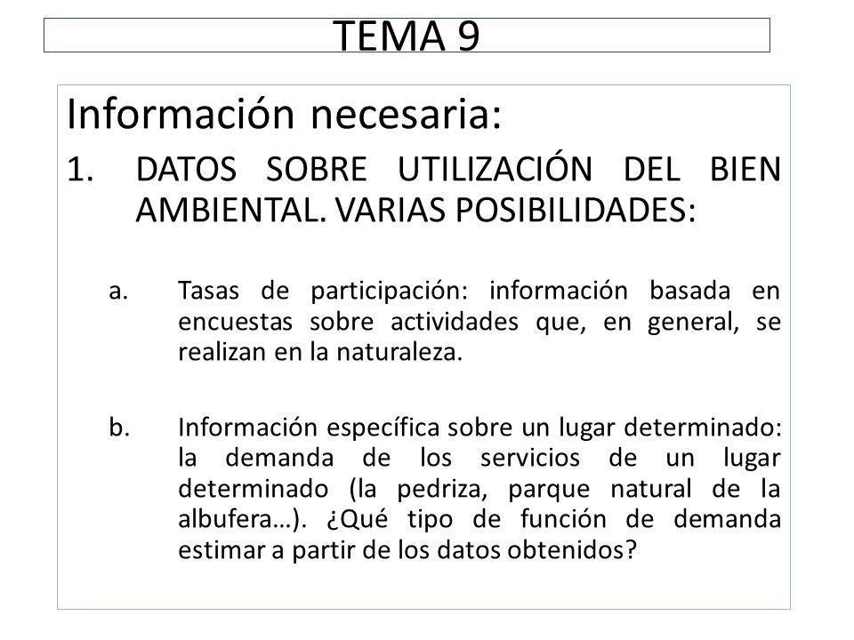 Información necesaria: