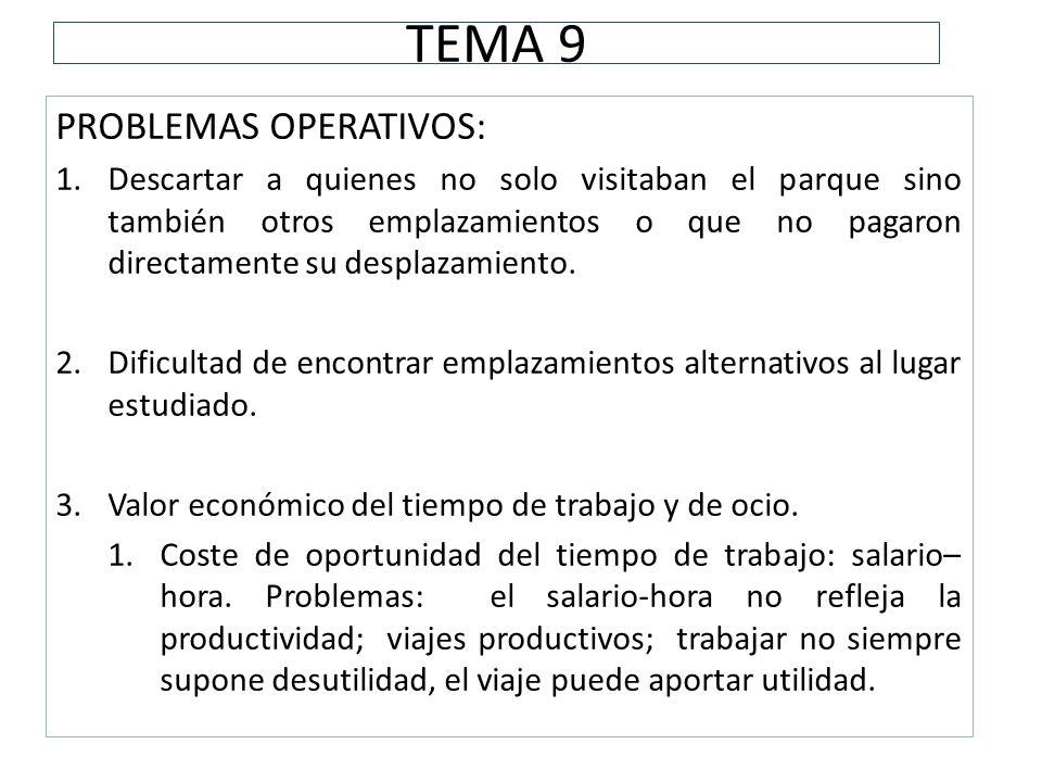 TEMA 9 PROBLEMAS OPERATIVOS: