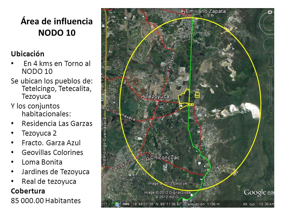 Área de influencia NODO 10
