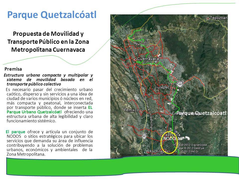 Parque Quetzalcóatl Propuesta de Movilidad y Transporte Público en la Zona Metropolitana Cuernavaca.