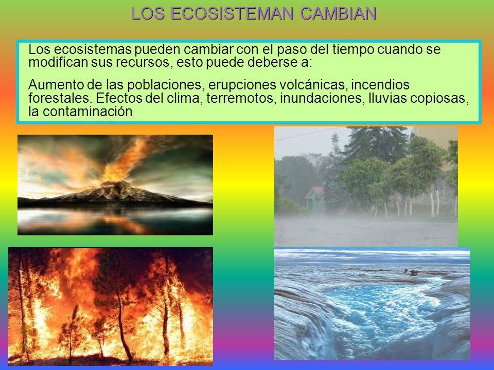 LOS ECOSISTEMAN CAMBIAN