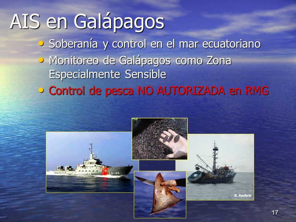 AIS en Galápagos Soberanía y control en el mar ecuatoriano