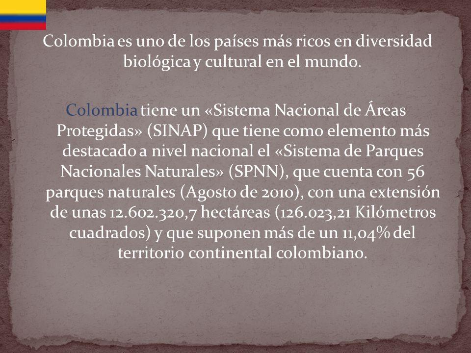 Colombia es uno de los países más ricos en diversidad biológica y cultural en el mundo.
