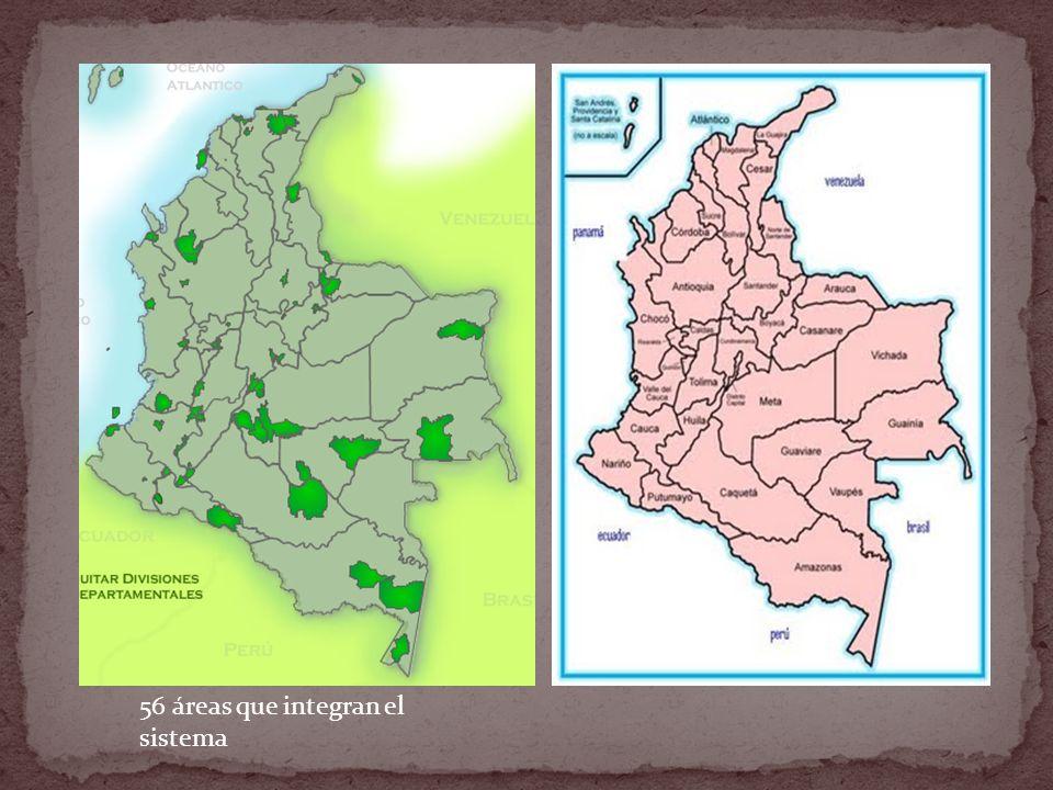 56 áreas que integran el sistema