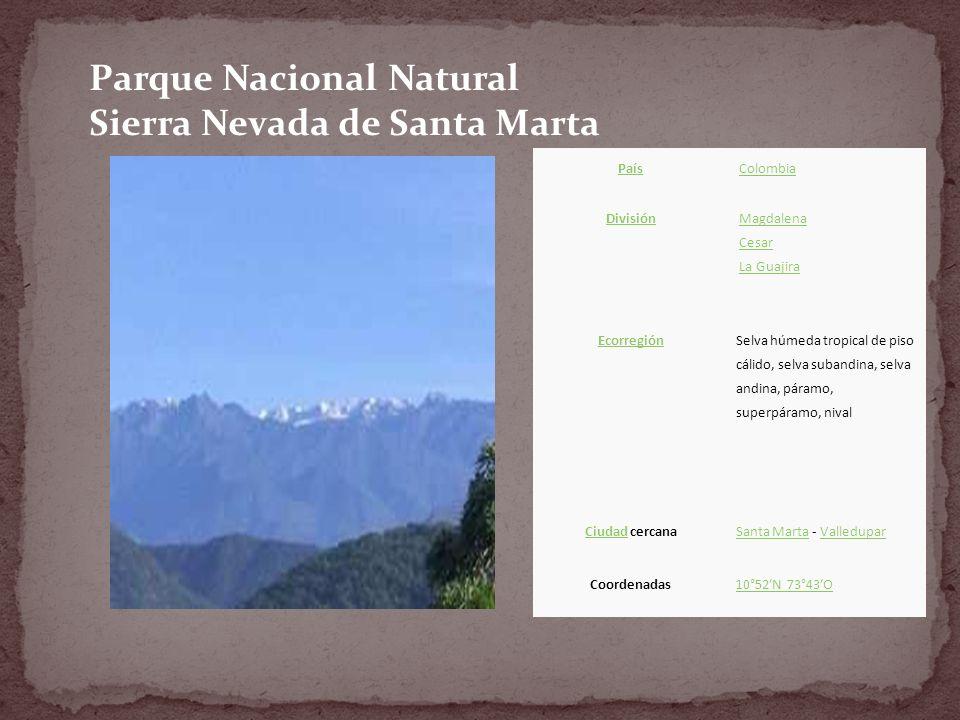Parque Nacional Natural Sierra Nevada de Santa Marta
