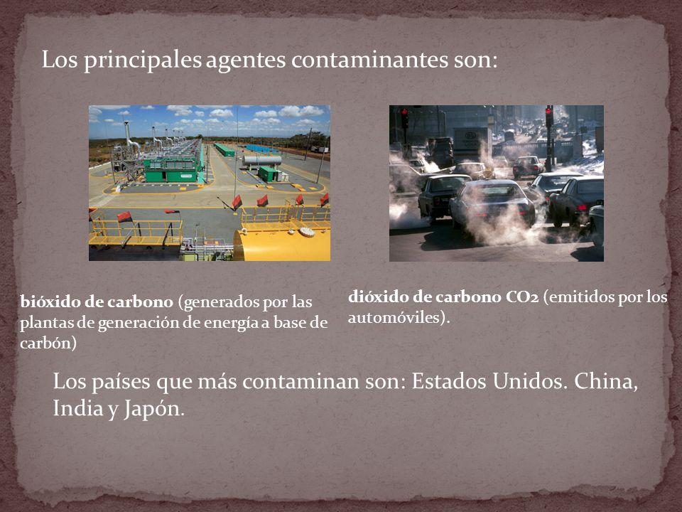 Los principales agentes contaminantes son: