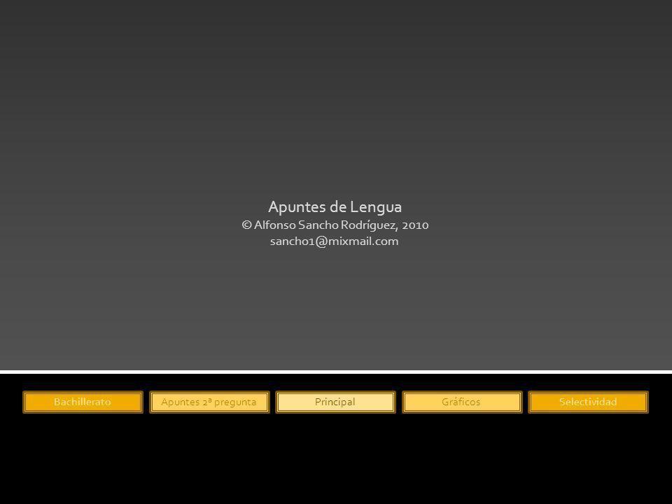 Apuntes de Lengua © Alfonso Sancho Rodríguez, 2010 sancho1@mixmail.com