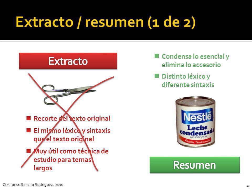 Extracto / resumen (1 de 2)