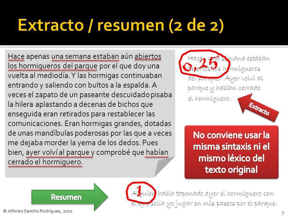 Extracto / resumen (2 de 2)