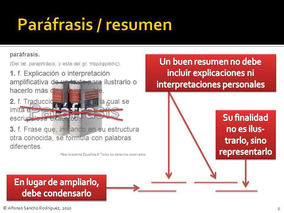 Paráfrasis Paráfrasis / resumen