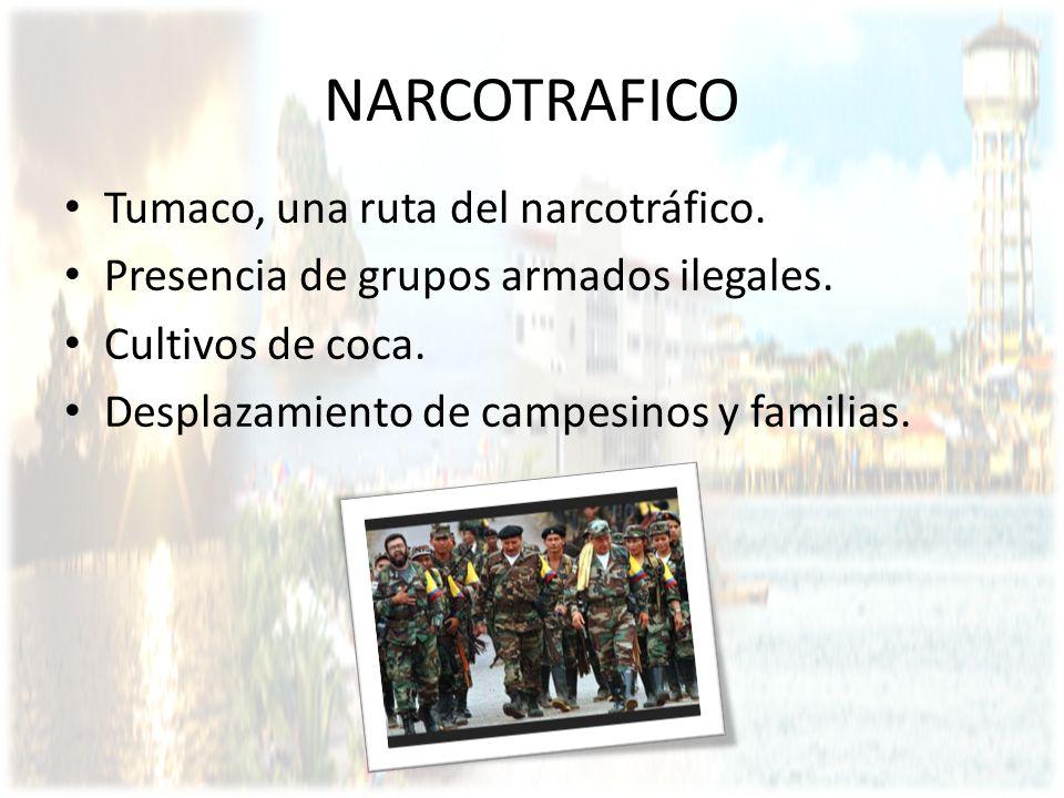 NARCOTRAFICO Tumaco, una ruta del narcotráfico.
