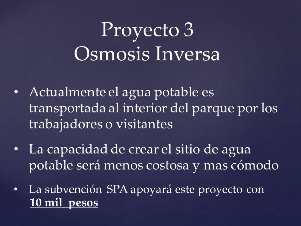 Proyecto 3 Osmosis Inversa