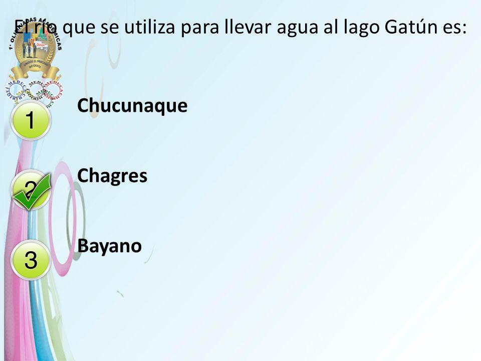 El río que se utiliza para llevar agua al lago Gatún es: