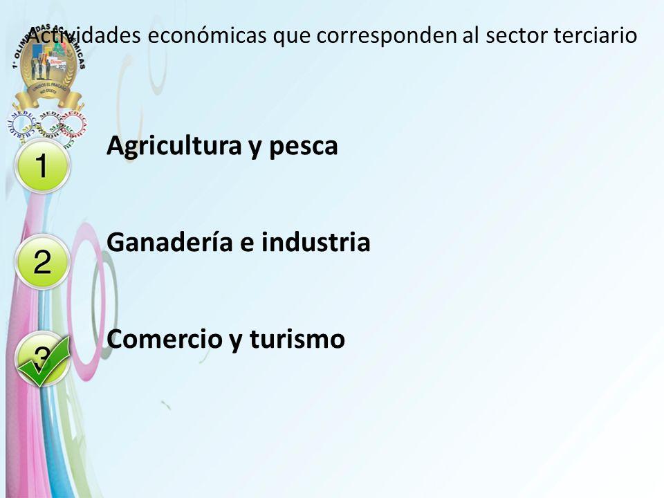 Actividades económicas que corresponden al sector terciario