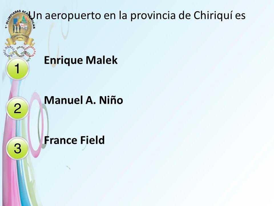 Un aeropuerto en la provincia de Chiriquí es