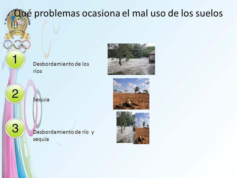 Qué problemas ocasiona el mal uso de los suelos