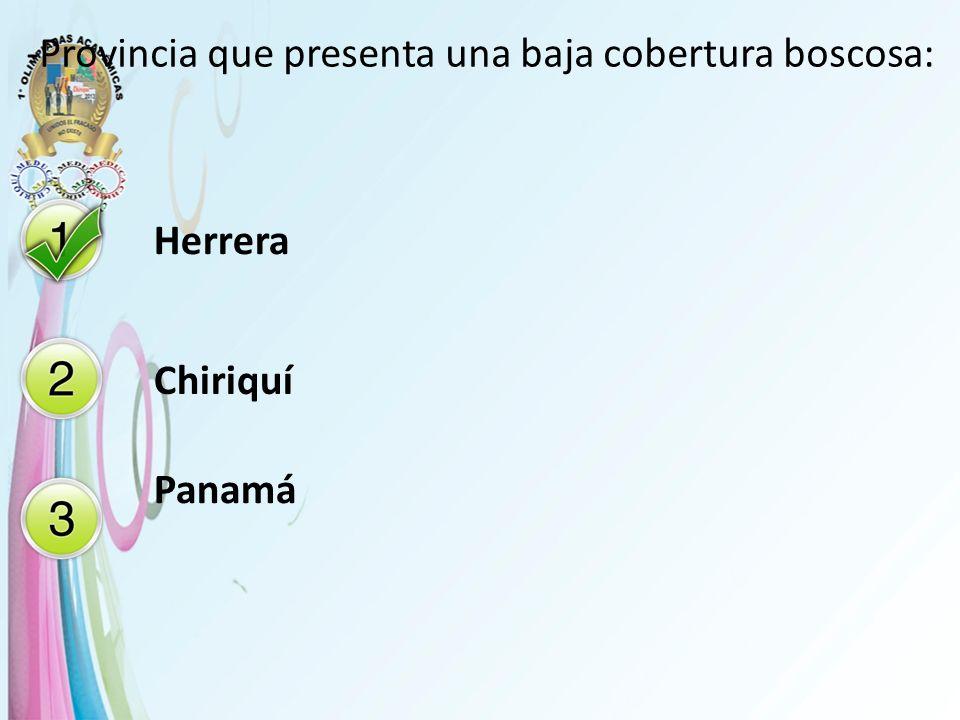 -Provincia que presenta una baja cobertura boscosa: