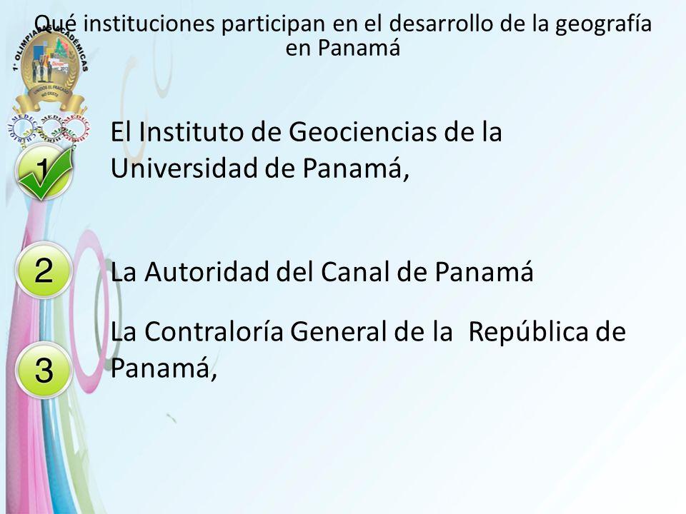 El Instituto de Geociencias de la Universidad de Panamá,