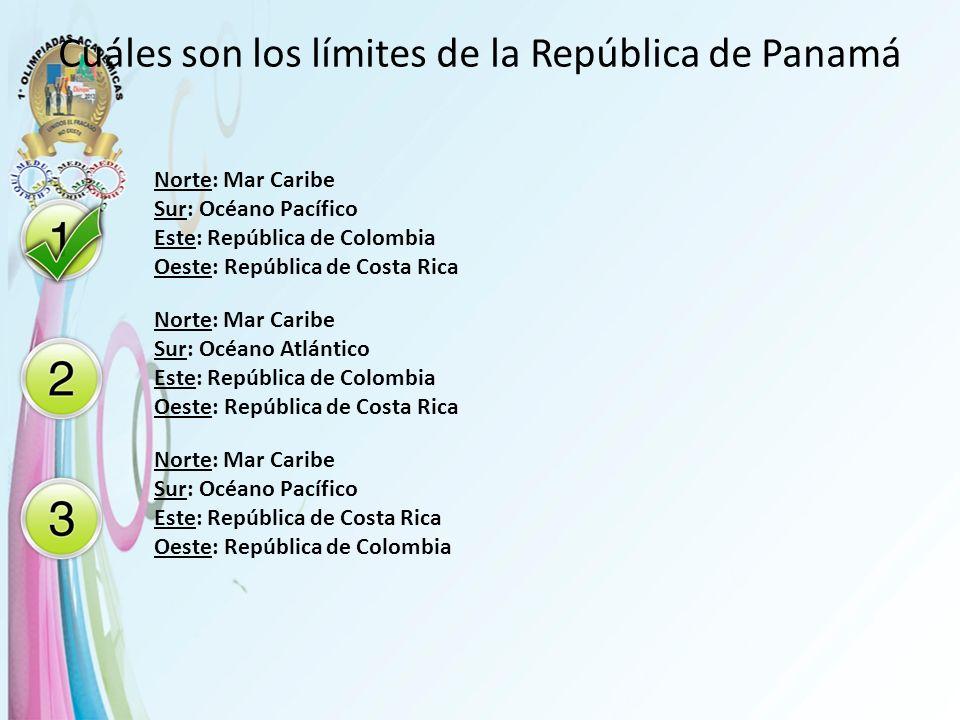 Cuáles son los límites de la República de Panamá