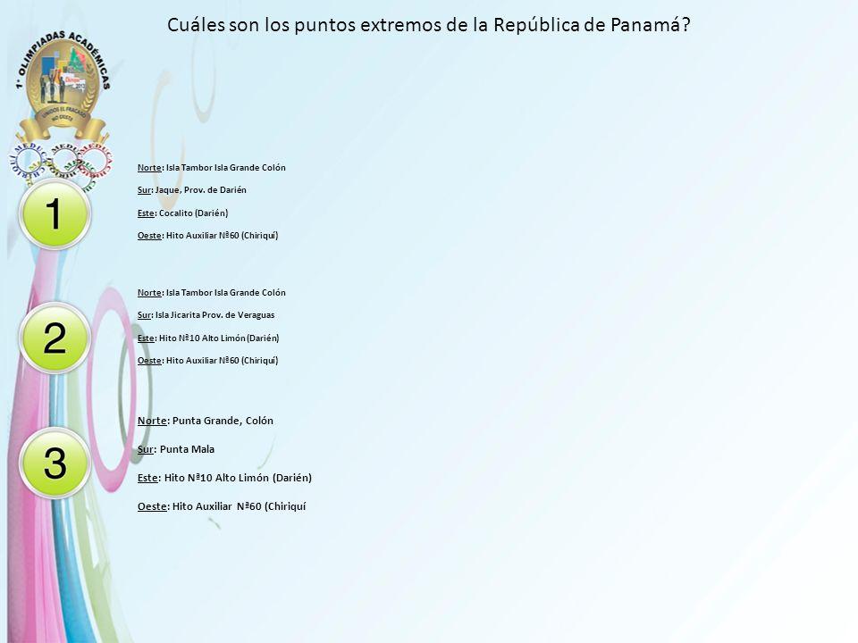 Cuáles son los puntos extremos de la República de Panamá