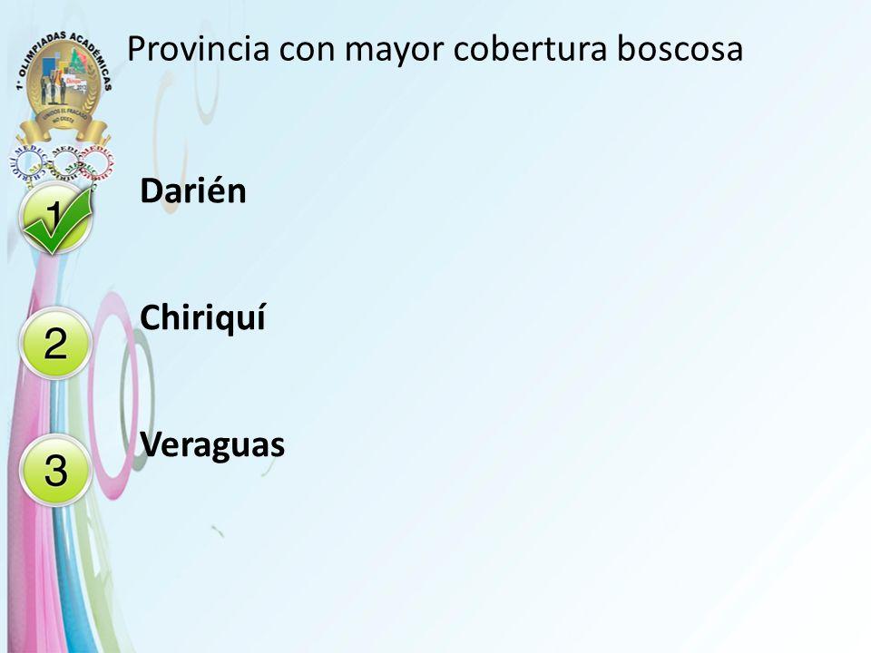 Provincia con mayor cobertura boscosa