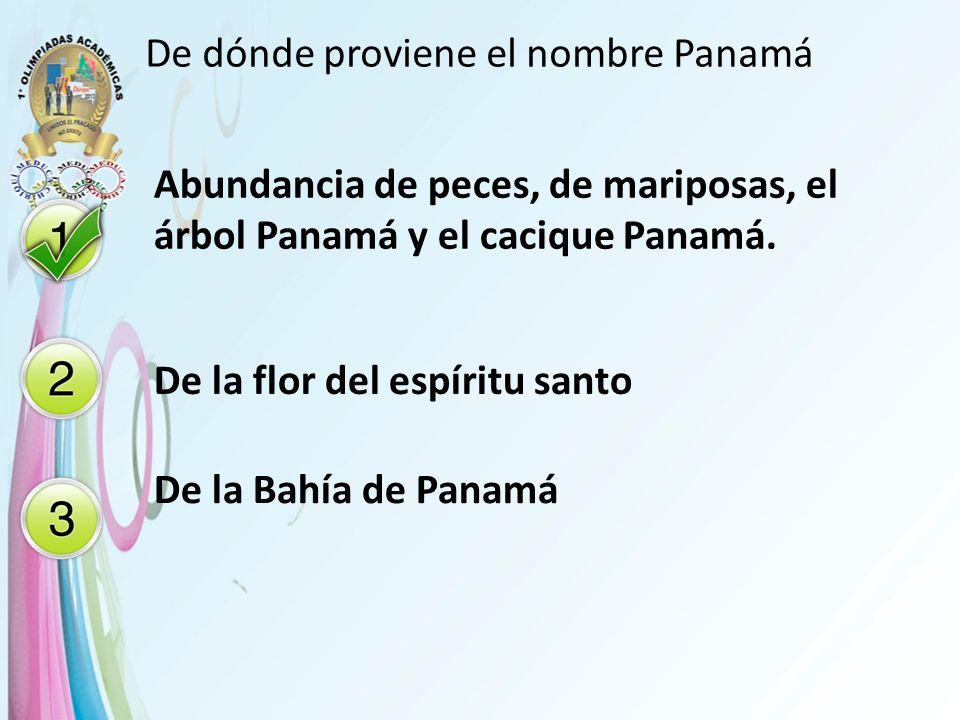 De dónde proviene el nombre Panamá