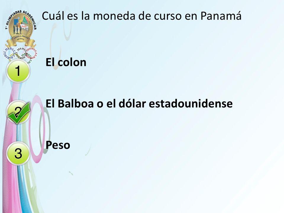Cuál es la moneda de curso en Panamá
